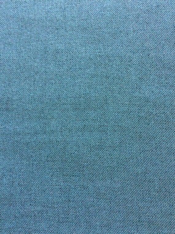 5yds Beautiful blue linen like blend...light upholstery weight, yet wonderfully drapeable!