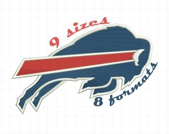 9 Sizes Buffalo Bills Inspired Machine Embroidery Designs in 8 formats and 9 sizes
