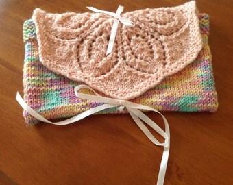 Purse  Handknitted  in 100 %   Australian   Wool  .