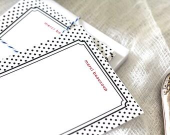 Merci Beaucoup Flat Cards