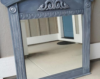 SOLD-Large Gray Mirror