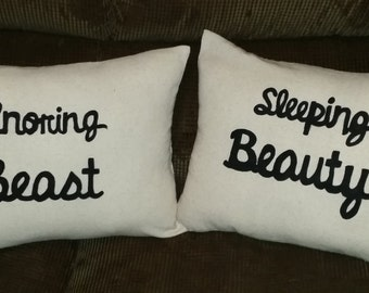 Handpainted Stenciled Throw Pillow Covers