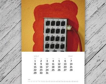 Calendar 2017, photography calendar, wall calendar, printable calendar, monthly calendar, abstract, wall hanging, home decor, office decor