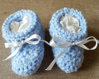 Handmade baby booties - full range of colours available