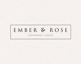 Simple Logo | Ember Rose | Logo Design, Graphic Design, Custom Logo, Photography Logo, Logo for Small Business, Boutique Logo