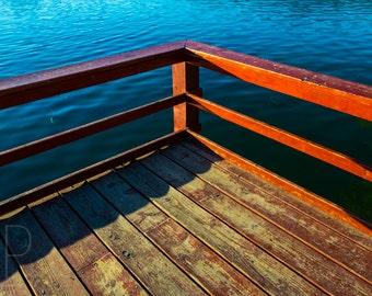 Dock, Fine Art, Urban Landscape Photography, Luster Print