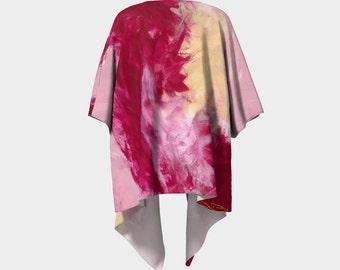 Flow I - Pink Kimono, Pink Cardigan, Pink Jacket, wrap jacket. painting, colourful, fun, bright