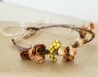 Neutrally Inspired Flower Crown