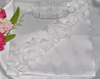 wedding ring pillow-ring bearer pillow-Rosette Ring Pillow-Wedding Accessories