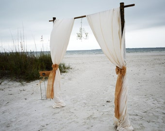 Rustic Wedding Arch Beach Decorations Bamboo Arbor