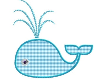 Embroidery design whale