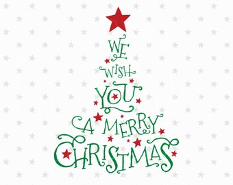 Merry Christmas SVG Christmas Tree Svg Christmas SVG Christmas svg files Cutting Files for Silhouette Cameo Cricut svg Winter Svg Files
