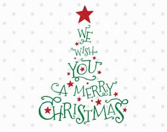 Merry Christmas SVG Christmas Tree Svg Christmas SVG Merry Christmas SVG Christmas svg file Christmas Tree Svg file Silhouette Cameo Cricut