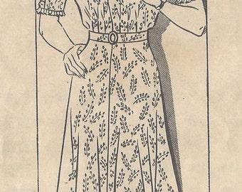 "1940s Vintage Sewing Pattern DRESS B48"" (R316) MARIAN MARTIN 9064"
