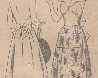 "1940s Vintage Sewing Pattern B32"" Skirt & Halter - Neck Top (173)"