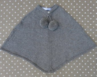 Alpaca hand knitted Cape