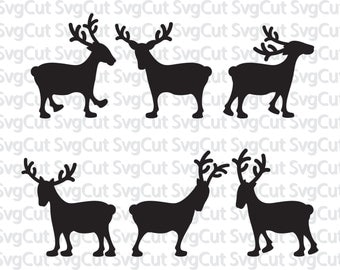 Reindeer SVG DXF PNG, reindeer files, christmas reindeer, christmas files, svg for cricut, silhouette file, cutting files, red nose reindeer