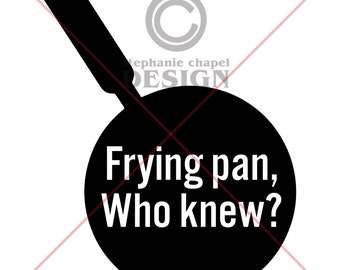 Tangled Frying Pan SVG, Tangled Frying Pan clipart, Vector art, Svg, Eps, Pdf, SVG files for Silhouette Cameo and Cricut, 1 zip file