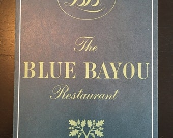 Disneyland The Blue Bayou Small Menu New Orleans Square