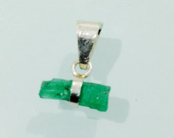 Pendant in Emerald and silver