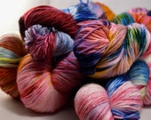"In Stock Sock Fingering ""Painted Bunting"""