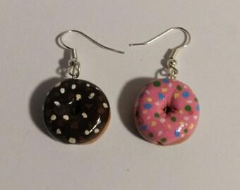 Handmade Donut Earrings