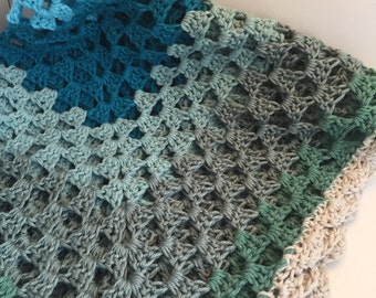 The North Sea baby blanket