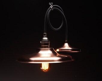 Hand Spun Copper Pendant Light