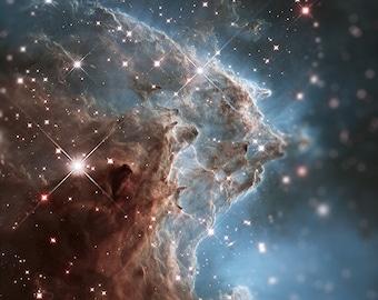Tilt Shift Monkey Head Nebula Hubble NASA Photographic Print 8x10 inch FREE SHIPPING