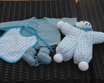 Blue birth gift set