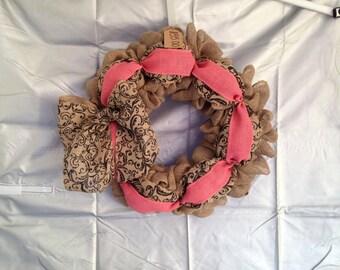 Pink Paisley Wreath