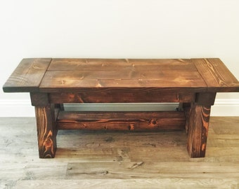 Decorative Bench // Entryway Decor // Bench // Entryway // Wood Bench