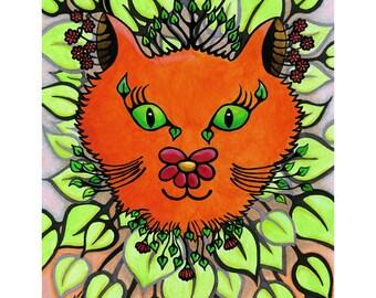 Cat Art, Cat Art Prints, Childrens Wall Art, Cat Wall Art, Cat Wall Decor, Cat Decor, Cat Lover Gifts, Presents for Cat Lovers
