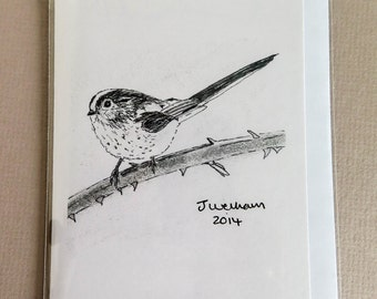 Long Tailed Tit Greetings Card