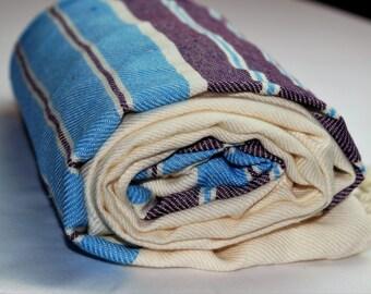 All Bamboo Turkish Peshtemal for Bath Spa Sauna Beach Colorful Towel