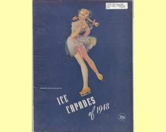 1948 Ice Capades Skating Program VG - Petty Cover - Eighth Edition