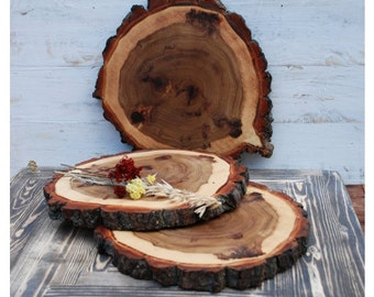 "8-12"" inches Wooden slices,wood slices,wood coasters,wood rounds,wood discs,9"" 10"" 11"" wood slabs,tree slices,rustic slices"