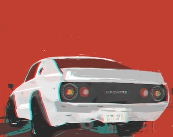 Skyline GTR '73 (A3 Print)