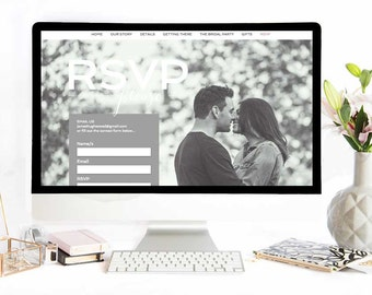 Custom Built Wedding Website