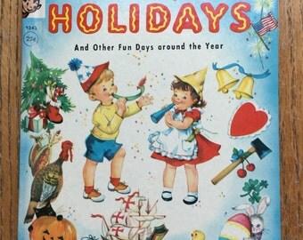 1962 Happy Holidays Rand McNally Elf Book