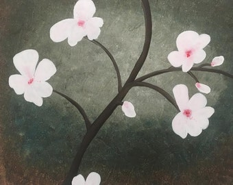 Cherry Blossom Painting,Spring Flowers,Canvas Artwork,Australian Artist, Acrylic Painting, Canvas, Floral Artwork,Art,Canvas Art,