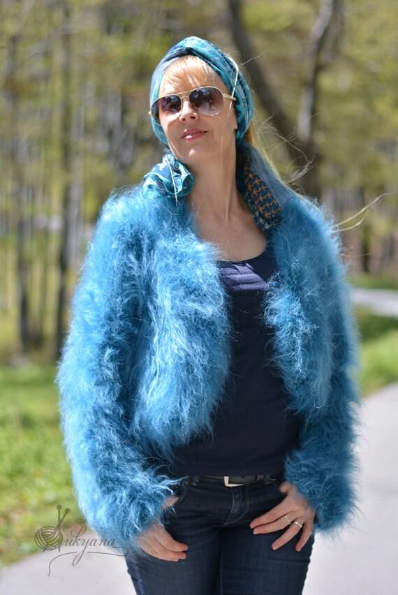 READY mohair bolero hand knitted summer shrug mohair jacket