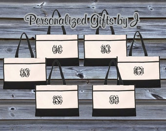 Wedding Tote, Monogrammed Tote Bag, Monogrammed Totes, Bridesmaid Gifts, Personalized Wedding Bags, Bridesmaids Gifts
