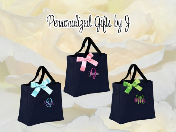 Personalized Sorority Sister Gift Bags, Bridesmaid Gift Tote Bag ...