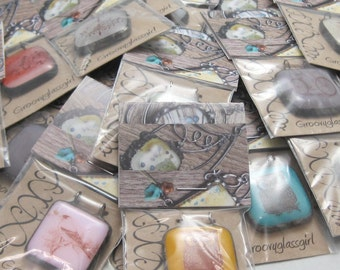20 Fused Glass Pendants | Wholesale Lot | Fused Glass | Stained Glass