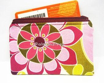 Flora women wallet, unpadded  portefeuille, id credit card case, purse, id1370600, portemonnaie, business cardholder , small zip pouch