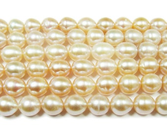 High Gloss Mauve Rice Freshwater Pearl Beads