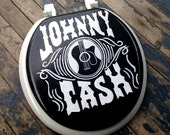 JOHNNY CASH Toilet Seat Hand Painted Debbie Is Adopted Man Cave Dad Grad Gift