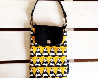 Smartphone case -panda mustard (made to order)