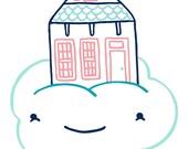House on Cloud Art Print